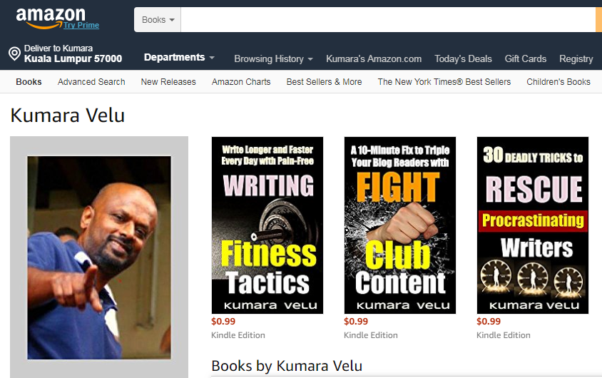 Kumara Velu Amazon Kindle Books