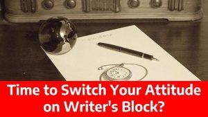attitude on writer's block
