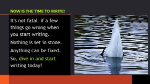 Now is the time to Write - Dive In