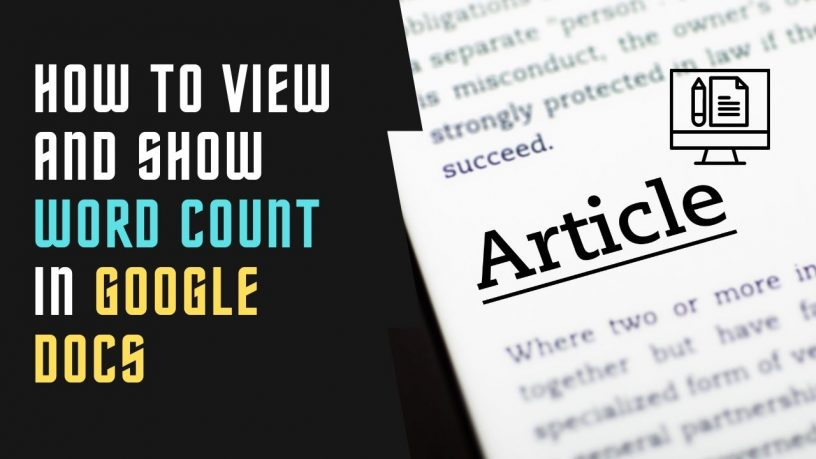 How to View and Show Word Count in Google Docs
