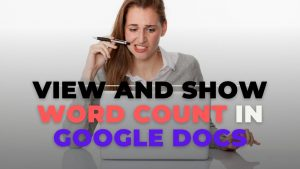View and Show Word Count in Google Docs