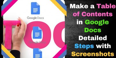 Make a Table of Contents in Google Docs