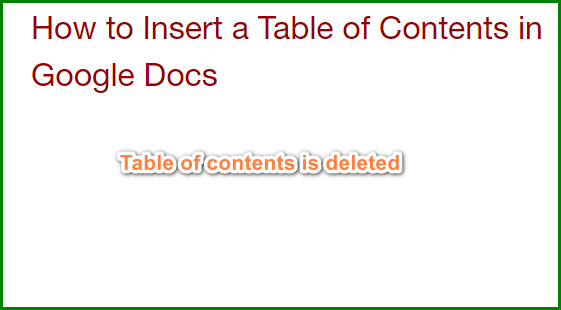 Remove Table of Contents in Google Docs -2