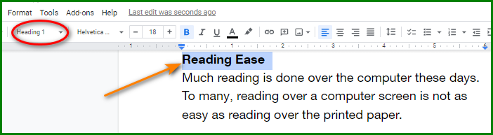 Make a Table of Contents in Google Docs - Insert Headings